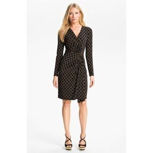 Michael Kors chain link print wrap style dress M